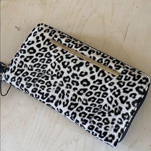 Black & White Leopard Print Wallet